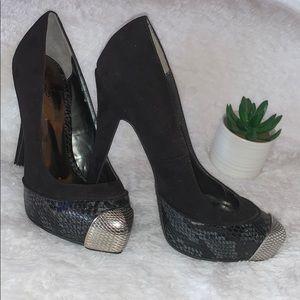 Carlos Platform Heel with steel toe snake design